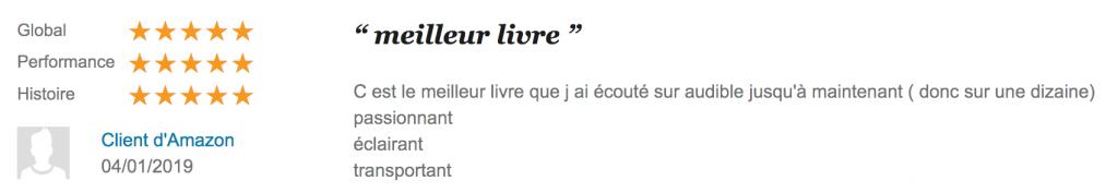 Avis «meilleur livreaudio » 5* sur Audible.fr